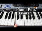 Batman Theme Song Piano Lesson - Easy Piano Tutorial