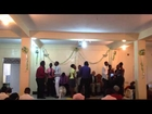 Young people singing a French gospel song,