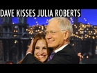 David Letterman Kisses Julia Roberts
