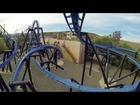 Batman the Ride: Backwards rear seat on-ride HD POV Six Flags Magic Mountain
