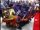 Six Flags Magic Mountain Unveils Twisted Colossus Car at IAAPA 2014