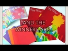 GIVEAWAY WINNERS ANNOUNCEMENT!! Personalized Holiday Card & FREE Origami Paper