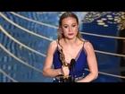 OSCARS 2016 | Brie Larson's Winning Speech for Best Actress Oscar for 'Room' - Full Video