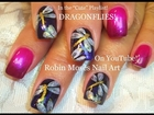 Easy Nail Art Design - DIY Dragonfly Nail Art Tutorial