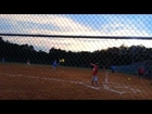 Ashlynn's first softball game 9-8-14
