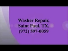 Washer Repair, Saint Paul, TX, (972) 597-0059