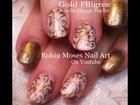 4 Nail Art Tutorials | DIY Fall Filigree Nails for beginners! Short nail Art