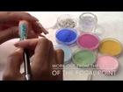 3D NAIL ART TUTORIAL- DESIGN #4- PINK & BLUE ROSES