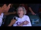 SEA@TEX: 105-year-old fan talks first pitch, fandom