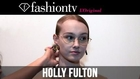 Holly Fulton Fall/Winter 2014-15 Hair & Make-up | London Fashion Week LFW | FashionTV