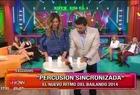 Paula en Este es el Show 2 (jugando a percusión sincronizada)  - 24 de Abril