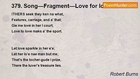 Robert Burns - 379. Song—Fragment—Love for love