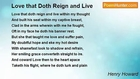 Henry Howard - Love that Doth Reign and Live