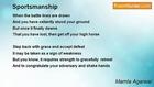 Mamta Agarwal - Sportsmanship