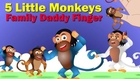 5 Funny Monkyes Cartoon Finger Family | Daddy Finger Family | Children Rhyme HD